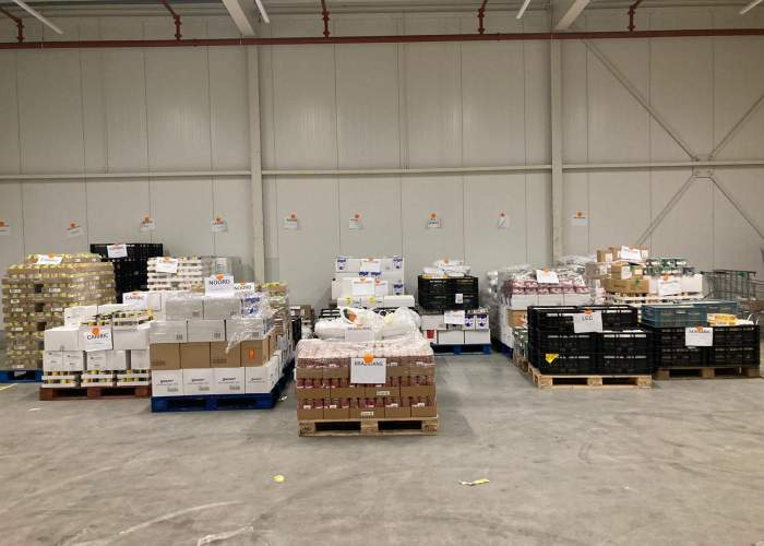 Image with news article: NOW_61.000 food packages!